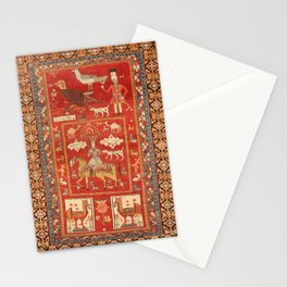 Kuba Hunting Rug With Birds Horses Camels Print Stationery Cards