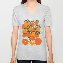 Orange Harvest - Blue Unisex V-Neck