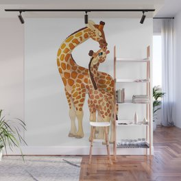 Mother and child giraffes Wall Mural