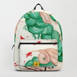 Zodiac sign- Aries Watercolor paint Backpack