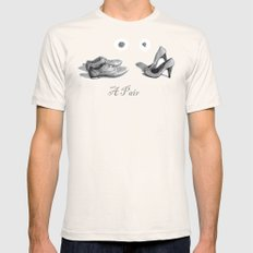A Pair Mens Fitted Tee Natural SMALL