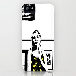 Sunflower Girl iPhone Case