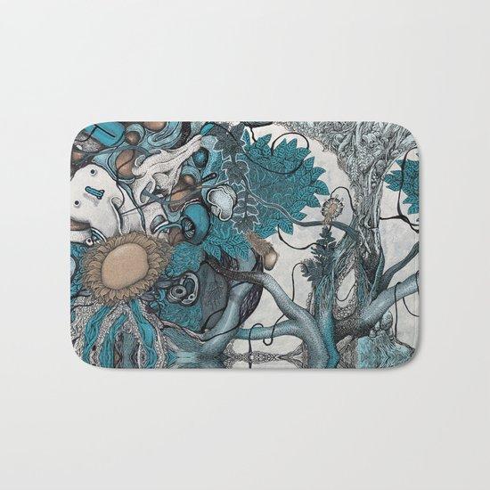 Abstract Jungle Bath Mat