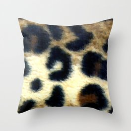Exotic Spotted Leopard Print  Throw Pillow