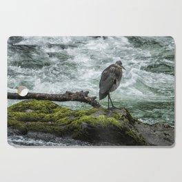Great Blue Heron on the McKenzie, No. 1 Cutting Board