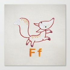 F Fox Canvas Print