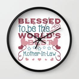 Blessed to be a Mother-In-Law Wall Clock