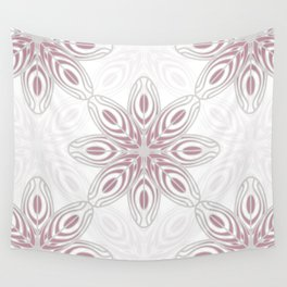 Feathers, Geometric Pattern in Mauve and Grey Wall Tapestry
