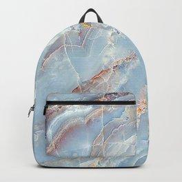 Trust - tender pastel blue marble (viii 2021) Backpack