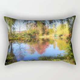 Dreamy Water Garden Rectangular Pillow