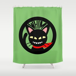 Whim is grinning Shower Curtain