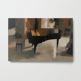 Grand Piano Artwork Metal Print