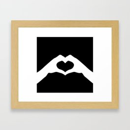 Hands making a heart shape- portraying love Framed Art Print
