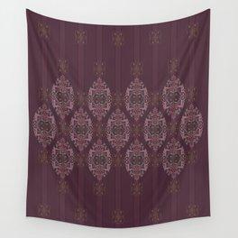 Vintage Burgundy vertical Wall Tapestry