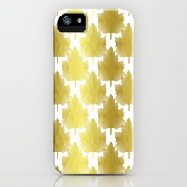 Golden Maple Leaves iPhone Case