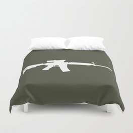 M4 Assault Rifle Duvet Cover