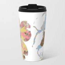 Silk Screen Floral Travel Mug