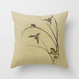 Orchid Sonata Throw Pillow