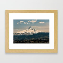 Mountain Valley Pacific Northwest - Nature Photography Framed Art Print