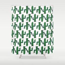 Walk Like a Cactus(ian) - Abstract Cacti Shower Curtain