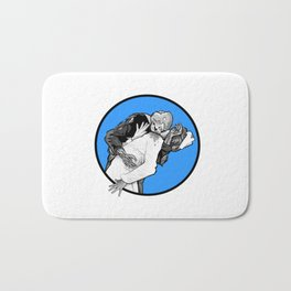 This is Z-Day - The Happy Couple (blue window) Bath Mat