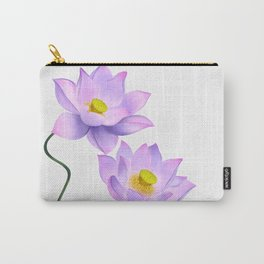 Thamarai, Yellow Flower, Floral Pattern, Yellow Blossom Carry-All Pouch