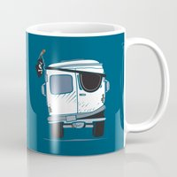 booty Mugs featuring The Booty Wagon by Brandon Ortwein