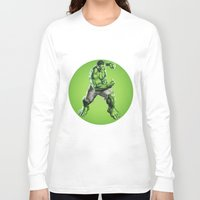 hulk Long Sleeve T-shirts featuring HULK by Hands in the Sky