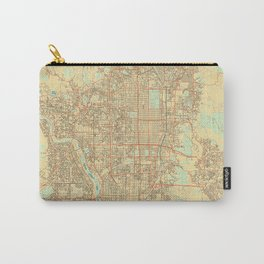 Kyoto Map Retro Carry-All Pouch