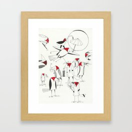Birds with Party Framed Art Print