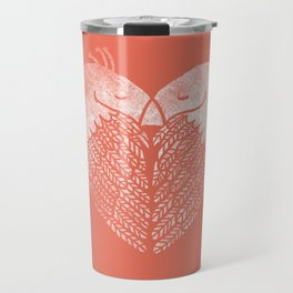 Love birds sitting on a tree Travel Mug