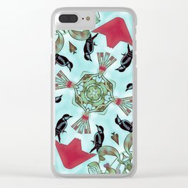 Woodpeckers and Mistletoe. Clear iPhone Case