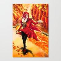 kuroshitsuji Canvas Prints featuring Grell Sutcliff by Kali-Mav