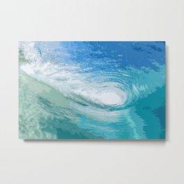 Within the Blue Ocean Waves Metal Print