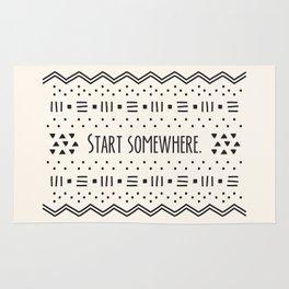 Start Somewhere. Rug