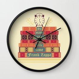 So many books - Frank Zappa Wall Clock