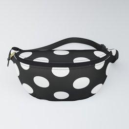 Polka Dots (White/Black) Fanny Pack