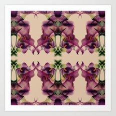 Purple lilies pattern Art Print