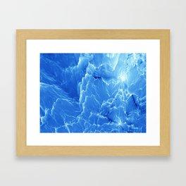 Blue mountains. Fractal pattern Framed Art Print