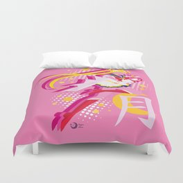 Soldier of Love and Justice Duvet Cover