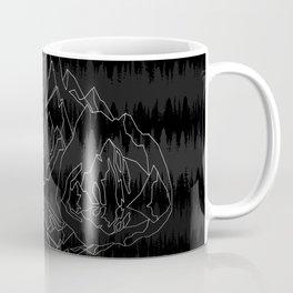 Mountains Lines and Bear Coffee Mug