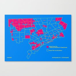 "Map: Detroit Future City ""Neighborhoods"" Canvas Print"