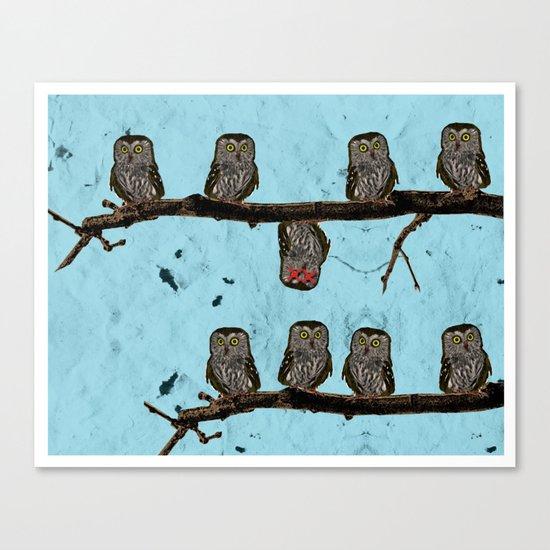 Perched Owls Print Canvas Print