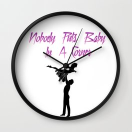 Baby In a Corner Wall Clock