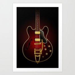 Electric Guitar ES 335 Flamed Maple Art Print