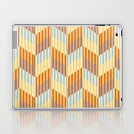 Striped colored chevron Laptop & iPad Skin