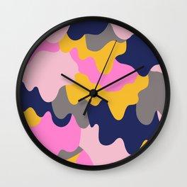 Melting Camo Pop Wall Clock