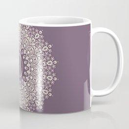 Mandala in Mulberry and White Coffee Mug