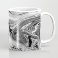 Mizuki - spilled ink marbling paper marble swirl abstract painting original art india ink minimal Mug
