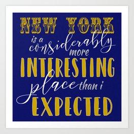 New York - Fantastic Beasts Art Print
